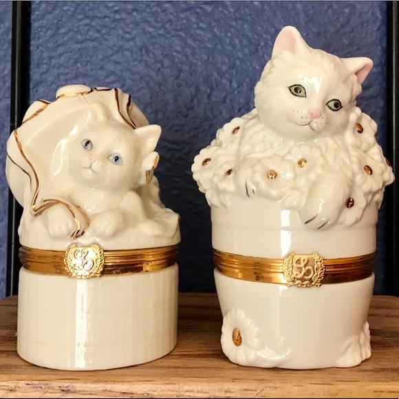 Lenox Other - Lenox Cat Trinket Boxes